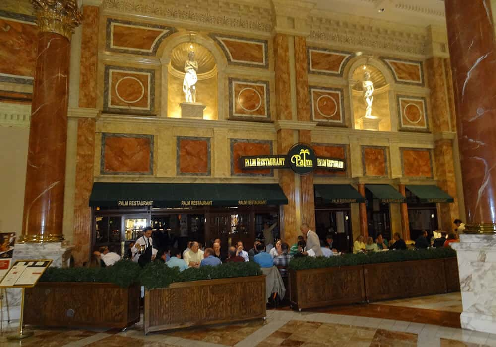 The Palm - Best Italian Restaurants in Las Vegas at Caesars Palace