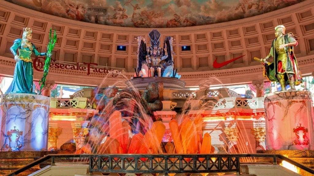 Fall of Atlantis at Caesars Forum Shops - Las Vegas Free Shows
