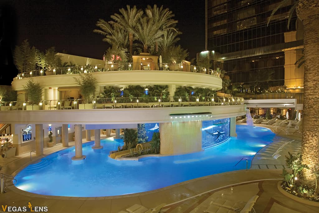 Golden Nugget Hotel's Rooftop Pool - Romantic things to do in Las Vegas