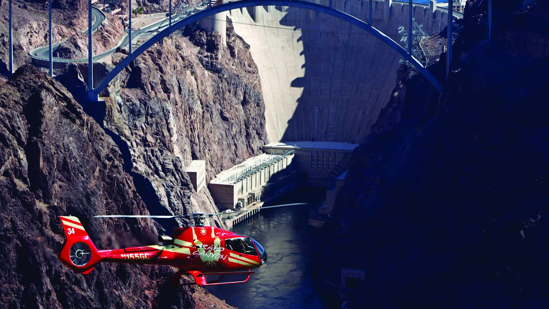 Tinggly Helicopter Ride Over the Hoover Dam - Romantic places in Las Vegas