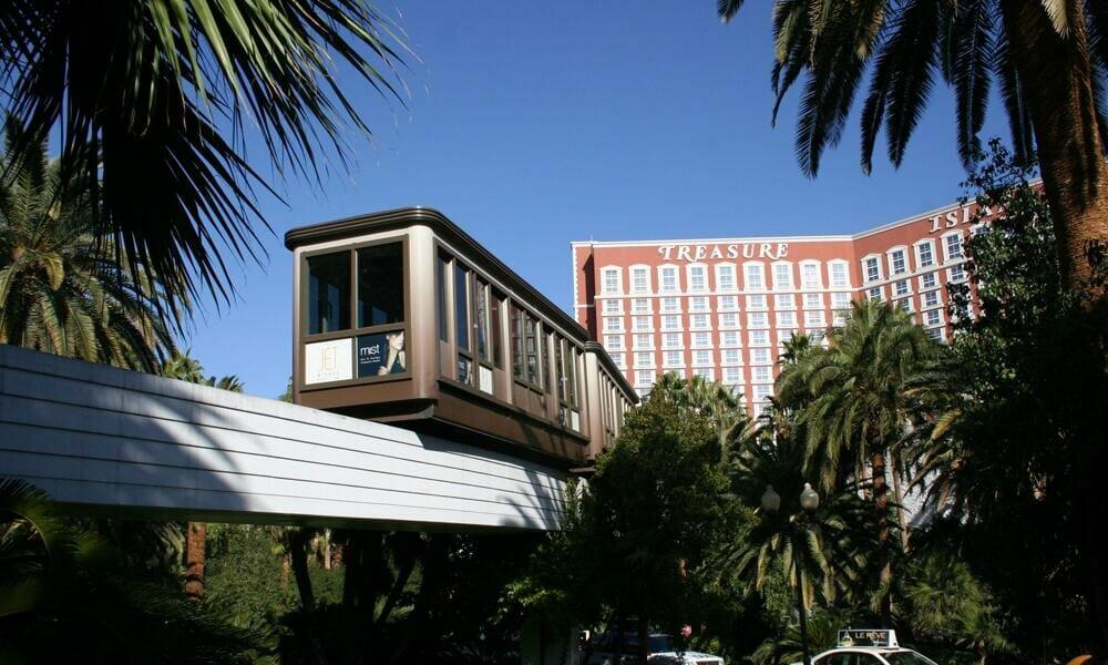 Mirage Treasure Island Tram - Free Las Vegas Tram