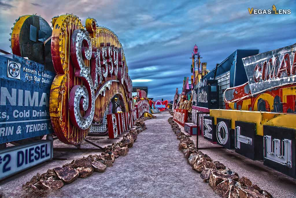 Neon Museum Urban Gallery - Free things to do in Vegas with kids