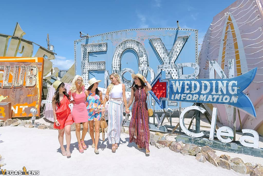Neon Museum Tour - Vegas bachelorette party ideas